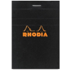 Clairefontaine Rhodia fekete jegyzetblokk Mérete: 11x17cm kockás