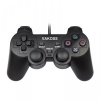 VAKOSS Gamepad USB; fekete; PC; Dual Shock Force Feedback