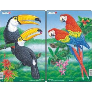 Larsen Larsen midi puzzle 30 db-os Egzotikus madarak H27