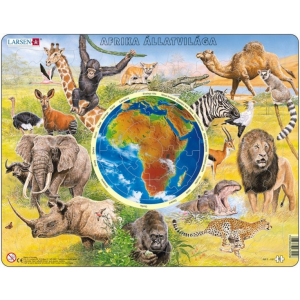 Larsen Larsen maxi  puzzle 90 db-os Afrika állatvilága (magyar nyelvű) AW2