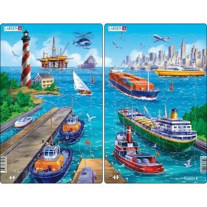 Larsen Larsen midi puzzle 22 db-os  Midi  - A kikötő U5