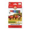 KOH-I-NOOR Triocolor Lovas 3142/12 színes ceruza készlet, háromszögletű, 12 különböző szín