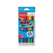 MAPED Color`Peps Duo színes ceruza készlet, háromszögletű, 12 különböző szín színes ceruza