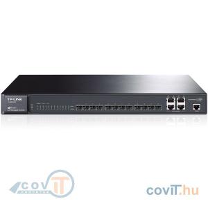 TP-Link TL-SG5412F 12 SFP 1000Mbps, 4 combo 1000Mbps menedzselhető switch