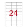 APLI 70x37mm időjárásálló matt áttetsző 2400db/cs