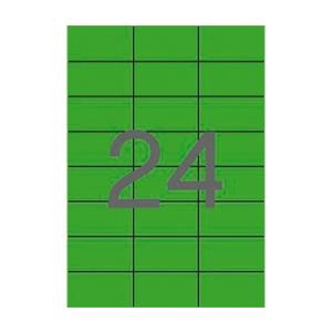 APLI 70x37mm színes zöld 2400db/cs
