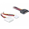 DELOCK Cable Power SATA 15pin -> 4pin Molex male (