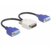DELOCK Adapter DMS-59 male > 2 x VGA female 20 cm