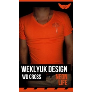 Neon orange WD cross póló