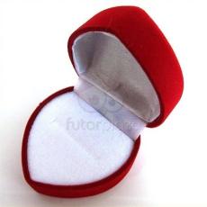 JWRY Piros szívecske gyűrűdoboz