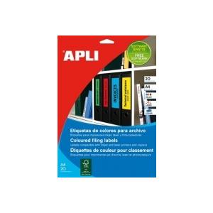 APLI Etikett, 190x61 mm, színes, piros, 80 etikett/csomag