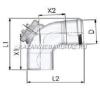 Tricox PPs ellenőrző könyök 87° 110mm hűtés, fűtés szerelvény