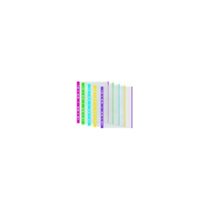 DONAU Genotherm, lefûzhetõ, színes szélû, A4, 40 mikron, narancsos felület, DONAU, zöld