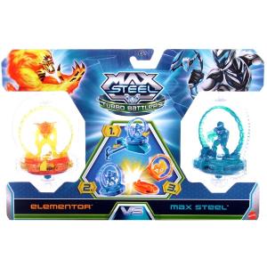 Max Steel Turbo Battlers pörgettyűk Max Steel és Tűz Elementor
