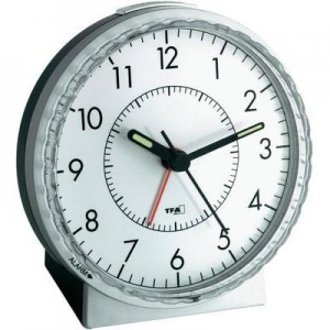 TFA Analóg elektromos ébresztőóra, 78 x 107 x 110 mm, TFA 60.1010