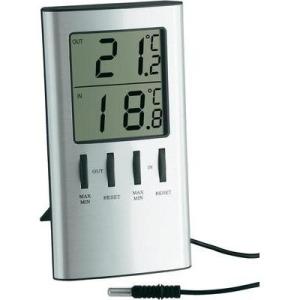 TFA Digitális külső-/belső hőmérő, ezüst, TFA 30.1027