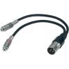 Paccs Adapter kábel 60 cm, 2 x RCA alj/XLR dugó, Paccs