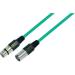 Paccs Mikrofonkábel 5 m (XLR dugó/alj), zöld, Paccs