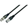 Paccs Mikrofonkábel 3 m (XLR dugó/alj), fekete, Paccs