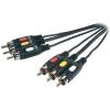 SpeaKa Professional AV kábel 3 x RCA dugó/dugó, 5 m, fekete, SpeaKa Professional 50019