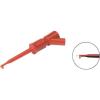 Miniatűr mérőcsipesz, griffcsipesz piros SKS Hirschmann KLEPS 2 BU