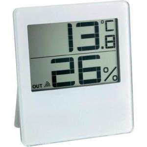 TFA Rádiójel vezérlésű hőmérséklet- és légnedvesség mérő, fehér, TFA Chilly