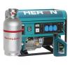 Heron EGM-55/48 AVR-1G benzin-gáz motoros áramfejlesztő, max 5500/4800 VA, egyfázisú (8896113G) aggregátor