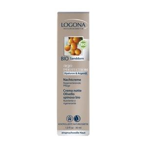 Logona Age Protection Éjszakai arcápoló krém hialuronsavval és bio homoktövissel igényes bőrre - 30 ml