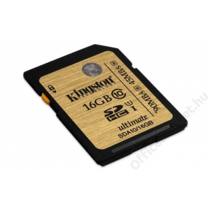 Kingston Memóriakártya, SDHC, 16GB, Class 10, KINGSTON UHS-I Ultimate Card (MKS16GHU)
