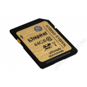 Kingston Memóriakártya, SDXC, 64GB, Class 10, KINGSTON UHS-I Ultimate Card (MKS64GHU)