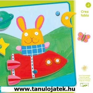 DJECO Djeco domború kirakó, puzzle, Creatablo, Korai oktató, fejlesztő játékok, Early learning