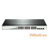 D-Link DGS-1210-24P 24 Port Gigabit Smart Switch 24xport,Fémház,24xGigabit,4xSFP