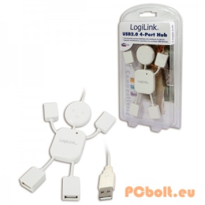 LogiLink Hangman USB 2.0 Hub 4-port White