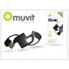 USB - micro USB adat- és töltőkábel - Muvit KeyChain Cable - fekete