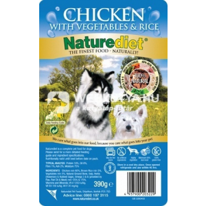 NatureDiet Csirke 6 x 390 g