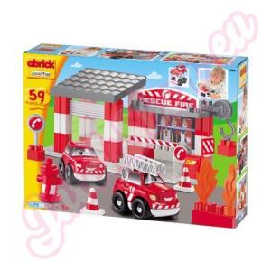 Simba Toys Abrick: Tűzoltóállomás autóval