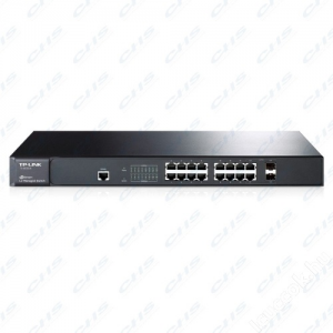 TP-Link Switch 16x1000Mbps+2 SFP combo port L2 Menedzselhető