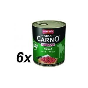 Animonda Gran Carno Fleisch Pur Adult Marha és Vadhús  6 x 800 g