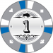 Buffalo Kerámia póker zseton 1