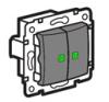 Valena csillár kapcsoló jelzőfény (250V~/10AX) alumínium villanyszerelés