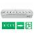 LED LED vészvilágító lámpatest (XL101) 2.4 Watt fehér
