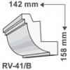 RV-41/B - Rejtett világítás díszléc - oldalfal