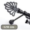 Siero karnis fekete Royal véggel, egysoros, 120 cm