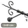 Siero karnis fekete lándzsa véggel, egysoros, 140 cm