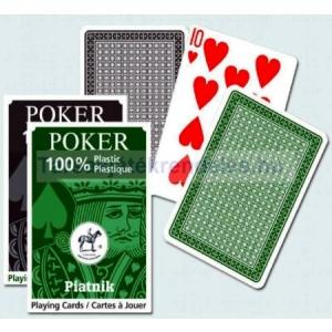 Piatnik Piatnik 100% plasztik póker kártya normál index, 1*55 lapos