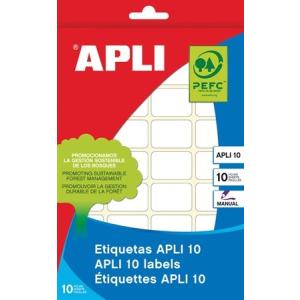 APLI Etikett, 20x75 mm, kézzel írható, kerekített sarkú, , 100 etikett/csomag
