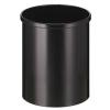 VEPA BINS Nyitott tetejű szemetes, fém, 15 l, , fekete