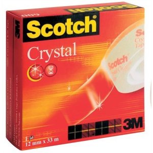 "3M Scotch Ragasztószalag, 12 mm x 33 m, ""Crystal"""
