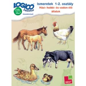 Tessloff Logico Piccolo feladatkártyák - Ismeretek 1-2. osztály: Házi-, hobbi- és vadon élő állatok