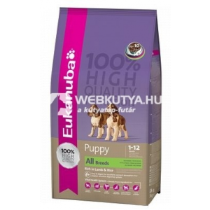 Alpha-Vet Kft. Eukanuba Puppy Rich in Lamb & Rice 12 kg